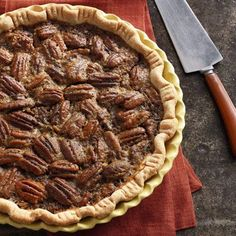 Homemade crust and crunchy-gooey-sugary goodness… Need we say more?  Get the recipe for Old-Fashioned Pecan Pie »   - TownandCountryMag.com