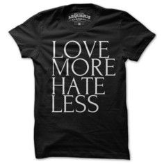 Love Hate Tee Men's Black, $22, now featured on Fab.