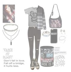 """""""Untitled #355"""" by threedaystoremember ❤ liked on Polyvore featuring River Island, H&M, Casetify, Disney and Converse"""