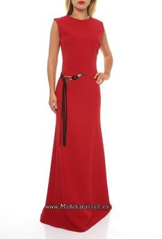 A-Linie Abendkleid 2017 Cara Rot