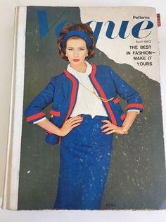 1962 April Vogue Pattern Catalogue Book Paris 1960s Original Fashion ~1500pgs sld 249.99+4 7/14/17
