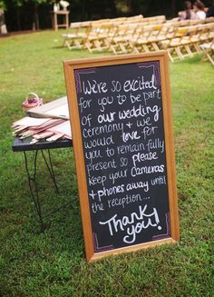 """Rustic Tennessee Wedding by Justin Wright Photography  http://lovetoastblog.com/2013/10/30/tennessee-wedding-justin-wright-photography/  """"Be in the moment"""" wedding sign to turn off technology"""
