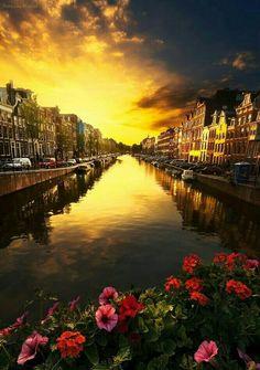 Le Coucher du Soleil-Amsterdam