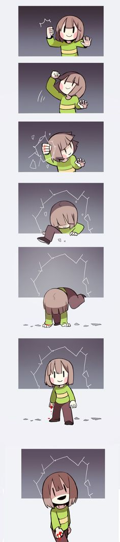 chara comic (Undertale) by Trcoot Tumblr. Kinda paranoid that this could happen...
