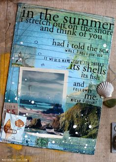 Mae Chevrette: To Go Into the World--I love the mix of paint, stitching, photographs, quotations and ephemera in her work
