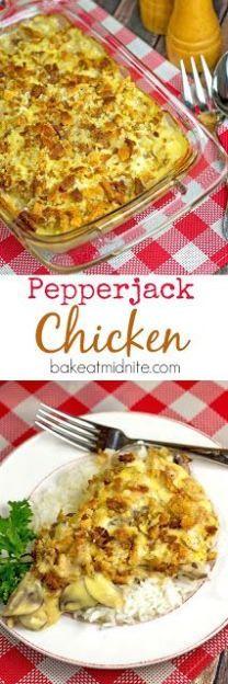 Pepperjack Chicken | bakeatmidnite.com | #chicken #casseroles #pepperjack #recipe