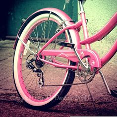 Bicycle Photography Pink Vintage Fine Art by ThePDXPhotographer, $30.00