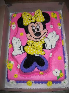 Minnie Mouse Alyssa's 4 yr. Minnie Mouse cake