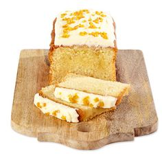 Orange Blossom Cake flavored with orange blossom and topped with orange blossom buttercream frosting - from Betty's (UK).