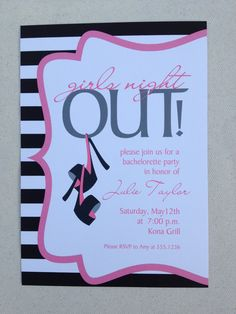 Girls night out party Invitation set by executivecreations