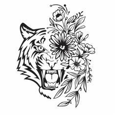 Zentangle Animals Art, Tiger Vector, Silhouette Painting, Subway Art Printables, Silhouette Clip Art, Tiger Silhouette, Art, Creative Drawing, Easy Diy Art