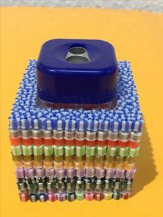 Sacapuntas hechos con hama beads