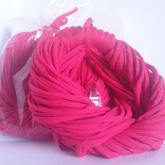 Rosa Escuro - Colar de Malha   Cachecol de Malha Lindo Acessório da Moda que VOCÊ confere na ColaresDaMah.com