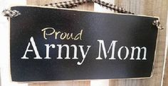 Proud Army Mom...Military, Army, Mom, Gift, Mothers Day, Patriotic by DoubleOakVintage on Etsy