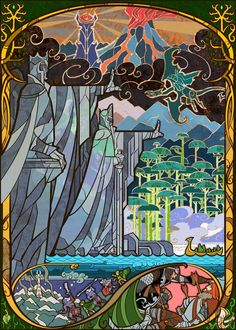 Lord-of-the-Rings-illustrated-in-stained-glass-4