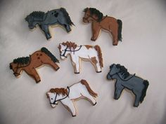 Herd of horse Cookies for lots of little smiles.