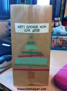 Gift Bag for Parent Presents! Super cute and quick! by theautismhelper.com