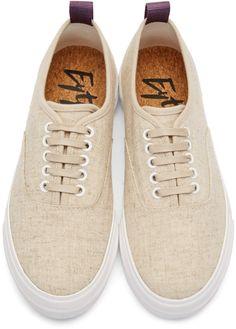 premium selection c4afa ef0a7 Eytys Beige Linen Mother Sneakers Beige, Skåpbilar, Sneakers, Herrskor,  Skor, Mode