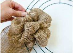 Wreath Making and Wreath for Front Door! Bubble Burlap Fall Wreath