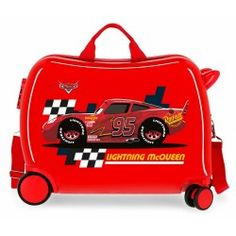 McQueen Red 2-way multidirectional suitcase suitcase 2017 Fall Fashion Trends, Autumn Fashion, Disney Luggage, E 7, Lightning Mcqueen, Minnie, Baby Shower Gifts, Suitcase, Frozen