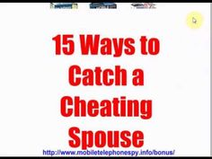 ways to catch a cheater