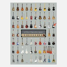 Guitar Chart 18x24 now featured on Fab.
