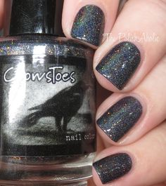 The PolishAholic: CrowsToes Hella Holo Customs September 2016 Swatches &…