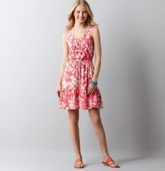 Floral Print Tank Dress - I need this for summer!