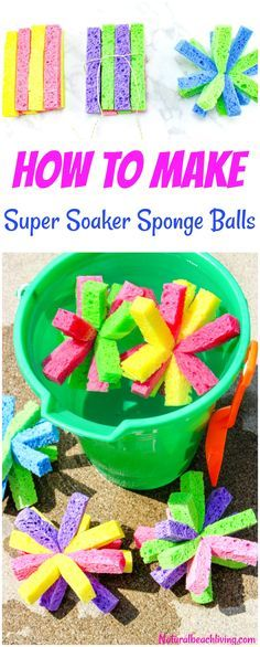 How to Make Super Soaker Sponge Balls Kids Will Love, These DIY Sponge Balls and Sponge Water Bombs are Perfect Summer fun, Water Activities for Kids that are cheap and easy, Summer Activities for Kids with DIY SPLASH Balls are a Perfect Summer Party Idea Summer Fun For Kids, Diy For Kids, Crafts For Kids, Free Summer, Crafts Cheap, Crafts To Make, Sponge Water Bombs, Fish Crafts, Water Crafts
