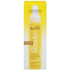 John Frieda Sheer Blonde Go Blonder Controlled Lightening Spray, oz - this stuff is excellent for lightening your roots in between coloring making it possible to color less often. Natural Highlights, How To Lighten Hair, Winged Eyeliner, Sprays, Summer Hairstyles, Health And Beauty, Hair Care, Beauty Products, Styling Products