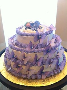 Butterfly baby shower cake for my cousin  : )
