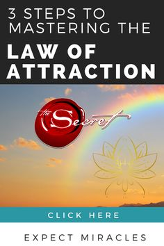 3 Practical Steps to Master the Law of Attraction. Every step explained so you can achieve your goals with The Law of Attraction.
