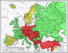 WW1 Alliances Europe 1914 Map - Mapsof.net