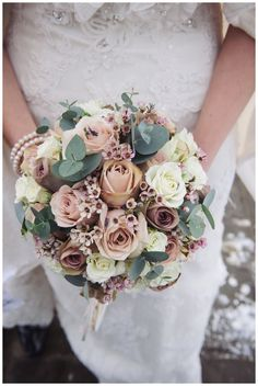 Winter bridal bouquet - add brighter colours