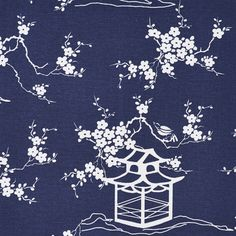 Pink Pagoda Fabric by the Yard by Pixie Dust Decor
