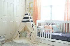 Shared Toddler Boys Room with Teepee Play Area