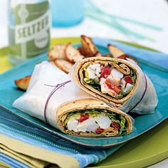 Healthy Lobster Wraps with Lemon Mayonnaise | CookingLight.com