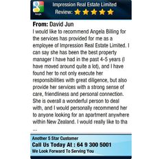I would like to recommend Angela Billing for the services has provided for me as a...
