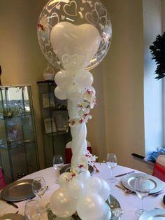 en blanco Balloon Centerpieces, Balloon Decorations Party, Birthday Party Decorations, Wedding Decorations, Balloon Columns, Balloon Arch, Balloons, Wedding Ballons, Party Hacks