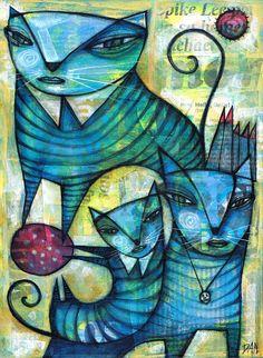 BLUE CATS by Dan Casado