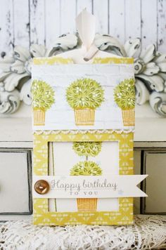 Happy Birthday Pull Out Card by Melissa Phillips for Papertrey Ink (June 2014)