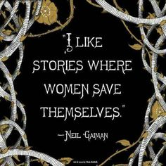 "A Mighty Girl ""I Like Stories Where Women Save Themselves."" -- Neil Gaiman Author Neil Gaiman recently published a reimagined fairy tale in which Snow White puts her wedding plans on hold, swaps her dress for chain mail and a sword, and sets off on a quest to rescue fellow princess Sleeping Beauty and her people. With stunning artwork by Chris Riddell, whose illustration is featured here, ""The Sleeper and the Spindle"" features Gaiman's characteristic dark humor and will appeal to older chil"