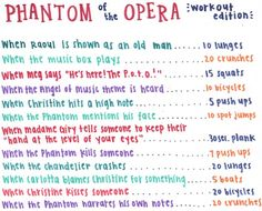 I'll do this next time I watch the film and the production of Love Never Dies..which will obviously be very soon!