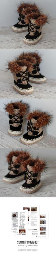 Summit Snowboot Crochet Pattern