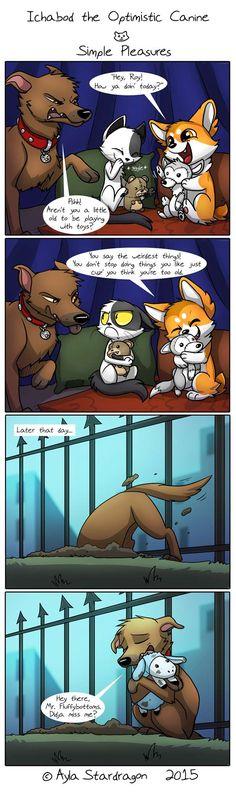 Ichabod the Optimistic Canine :: Simple Pleasures | Tapastic Comics - image 1