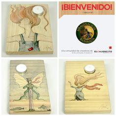 ¡Bienvenida Beatriz y sus creativas obras! ¿Desea conocer más de su trabajo? ➡️ http://elcajoncito.com #MadeinCostaRica #Decoración #Gift #Handmade #Wood