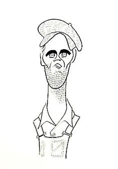 'henry fonda in the grapes of wrath' by al hirschfeld