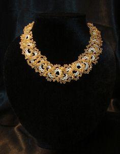 Oglala Lace stitch necklace.