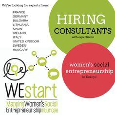 #WEstart #women #socent #social enterprise #social entrepreneurship #entrepreneur #gender #feminist  www.womenslobby.org European Women#s Lobby