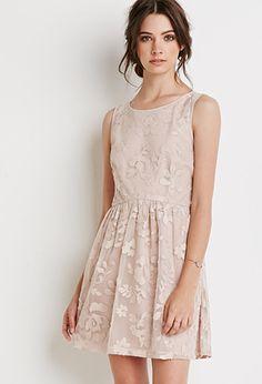 Floral Faux Leather Applique Dress | Forever 21 - 2049257266